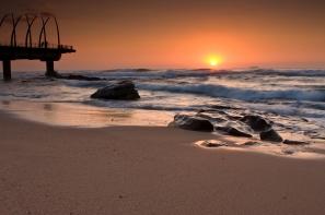 Umhlanga Pier at sunrise © Riaanvdb Dreamstime.com